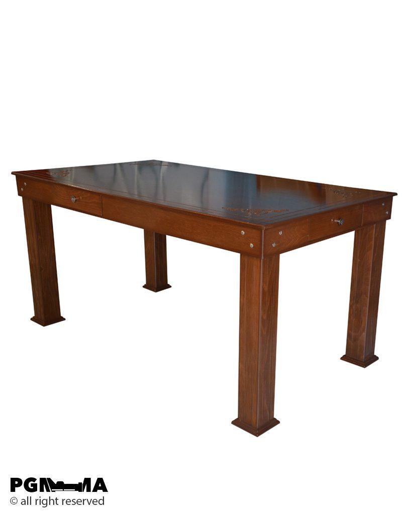میز غذاخوری صفحه دار2 میز غذاخوری صفحه دار منبتی100900455 پی جی ما بازار مبل امام علی