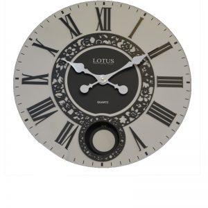 ساعت ديواريfl-6600-pw ساعت دیواری سبک آمریکایی-101300383Tفلاور گرد سفید FL-6600-PW-شاخص-پی جی ما-بازار-مبل-امام-علی