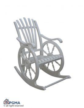 صندلی راک چرخی جدید سفید 102000002 پی جی ما