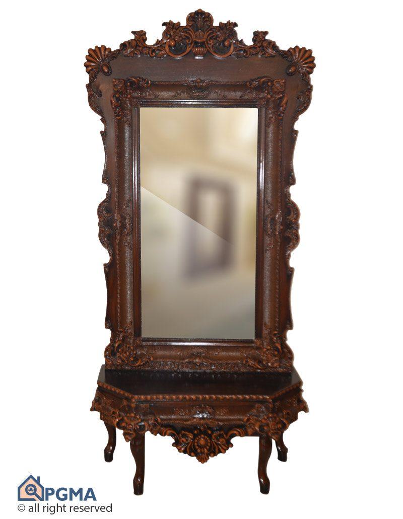 آینه و کنسول منبتی فندوقی-102100326-شاخص-پی-جی-ما